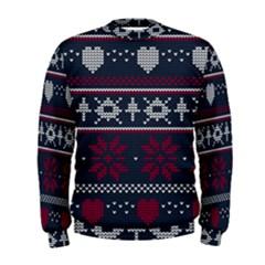 Beautiful Knitted Christmas Pattern Men s Sweatshirt