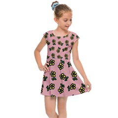 Daisy Pink Kids  Cap Sleeve Dress by snowwhitegirl