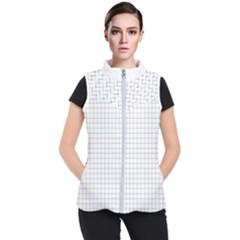 Aesthetic Black And White Grid Paper Imitation Women s Puffer Vest by genx