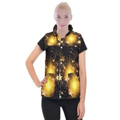 Christmas Star Women s Button Up Vest by AnjaniArt
