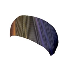 Rainbow Waves Mesh Colorful 3d Yoga Headband