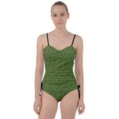 Groyper Pepe The Frog Original Meme Funny Kekistan Green Pattern Sweetheart Tankini Set by snek