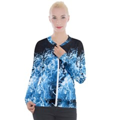 Photo Vagues  Casual Zip Up Jacket by kcreatif