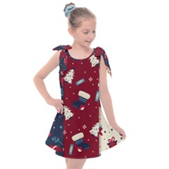 Flat Design Christmas Pattern Collection Art Kids  Tie Up Tunic Dress by Vaneshart