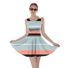Bandes Orange/bleu/noir Skater Dress