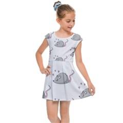Mouse Seamless Pattern Kids  Cap Sleeve Dress by Vaneshart
