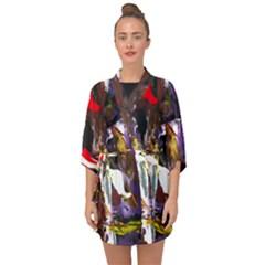 Wildfire 1 1 Half Sleeve Chiffon Kimono by bestdesignintheworld