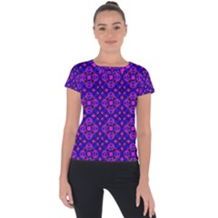 Abstract-r-1 Short Sleeve Sports Top  by ArtworkByPatrick