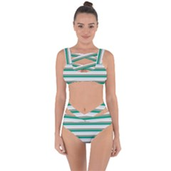 Stripey 4 Bandaged Up Bikini Set  by anthromahe