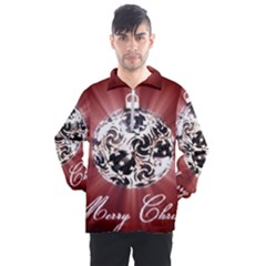 Merry Christmas Ornamental Men s Half Zip Pullover by christmastore