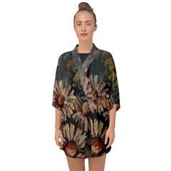 Old Embroidery 1 1 Half Sleeve Chiffon Kimono by bestdesignintheworld