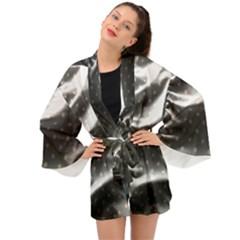 Polka Dots 1 2 Long Sleeve Kimono by bestdesignintheworld