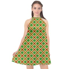 Df Irish Wish Halter Neckline Chiffon Dress  by deformigo