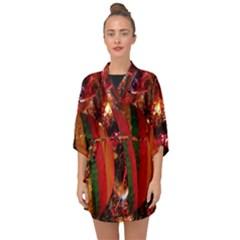 Christmas Tree  1 15 Half Sleeve Chiffon Kimono