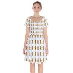 Ginger Breads Dancing So Merry Short Sleeve Bardot Dress