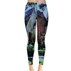 Hot Day In Dallas 53 Leggings  by bestdesignintheworld