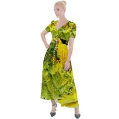 Yellow Chik 5 Button Up Short Sleeve Maxi Dress by bestdesignintheworld