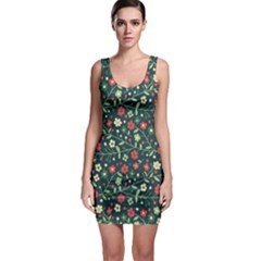 Flowering Branches Seamless Pattern Bodycon Dress