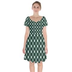 Aronido Short Sleeve Bardot Dress by deformigo