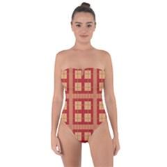 Lorium Tie Back One Piece Swimsuit by deformigo