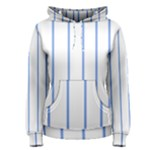 blue stripes  Women s Pullover Hoodie
