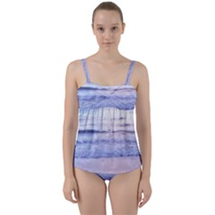 Pink Ocean Dreams Twist Front Tankini Set by TheLazyPineapple
