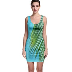 Tropical Palm Bodycon Dress