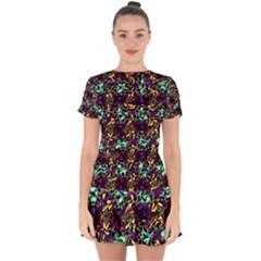 Abstract-r-9 Drop Hem Mini Chiffon Dress by ArtworkByPatrick