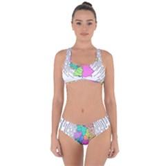 Digitization Transformation Germany Criss Cross Bikini Set by Vaneshart