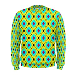 Pattern Tiles Square Design Modern Men s Sweatshirt
