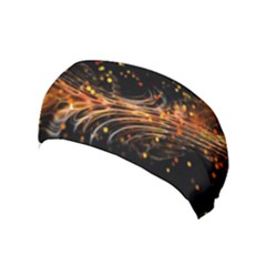 Abstract Background Particles Wave Yoga Headband by Vaneshart