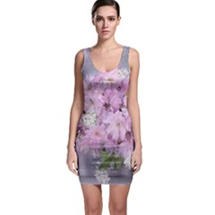 Nature Landscape Cherry Blossoms Bodycon Dress