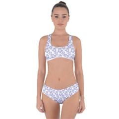 Cute Flowers - Silver Grey Criss Cross Bikini Set by FashionLane