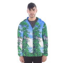 Drawing Of A Summer Day Men s Hooded Windbreaker by Fractalsandkaleidoscopes