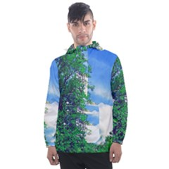 Drawing Of A Summer Day Men s Front Pocket Pullover Windbreaker by Fractalsandkaleidoscopes