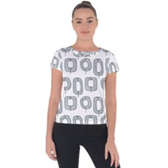 Forest Patterns 16 Short Sleeve Sports Top