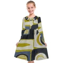 Abstract Landscape  Kids  Midi Sailor Dress by Sobalvarro