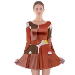 Sophie Taeuber Arp, Composition ¨¤ Motifs D arceaux Ou Composition Horizontale Verticale Long Sleeve Skater Dress by Sobalvarro