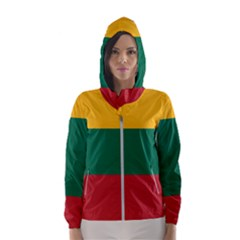 Lithuania Flag Women s Hooded Windbreaker