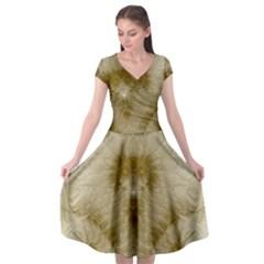 Fractal Abstract Pattern Background Cap Sleeve Wrap Front Dress by Wegoenart