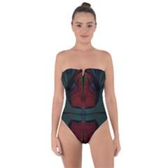 Fractal Abstract Background Pattern Tie Back One Piece Swimsuit by Wegoenart