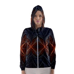 Art Abstract Fractal Pattern Women s Hooded Windbreaker