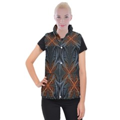 Art Abstract Fractal Pattern Women s Button Up Vest