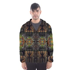 Fractal Fantasy Mystic Design Men s Hooded Windbreaker
