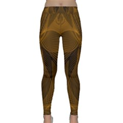 Fractal Design Background Pattern Classic Yoga Leggings by Wegoenart