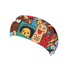 Abstract Grunge Urban Pattern With Monster Character Super Drawing Graffiti Style Yoga Headband by Nexatart