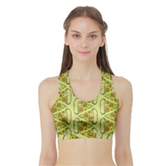 Pizza Fast Food Pattern Seamles Design Background Sports Bra With Border by Vaneshart