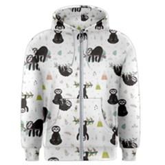 Cute Sloths Men s Zipper Hoodie