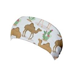 Camels Cactus Desert Pattern Yoga Headband