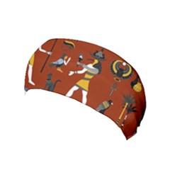 Ancient Egyptian Religion Seamless Pattern Yoga Headband by Wegoenart